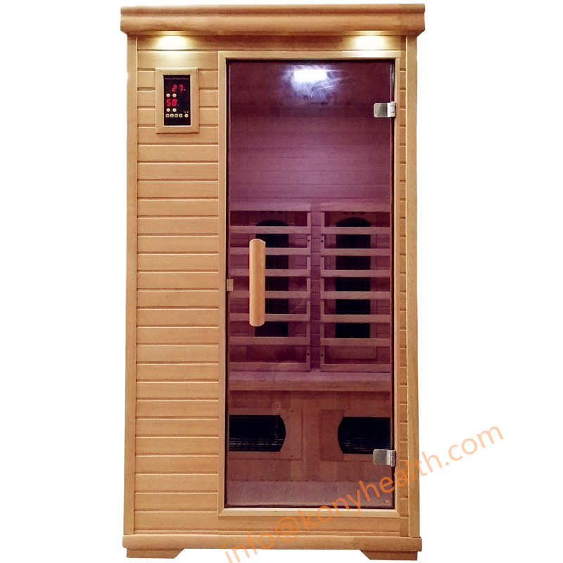 Far infrared Sauna room with combined heater