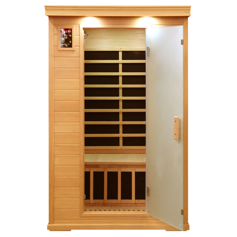 2 persona far infrared sauna with carbon heater and foot heater